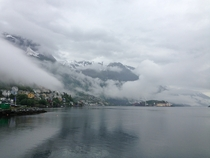 Rainy day in Odda Norway