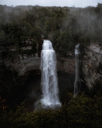 Rainy moody days makes for some serious waterfall views at Fall Creek Falls State Park TN