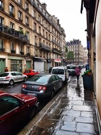 Rainy morning in Paris