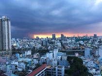 Rainy season sunset in Saigon