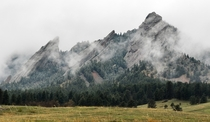 Rainy Spring day at Flatirons in Boulder Colorado