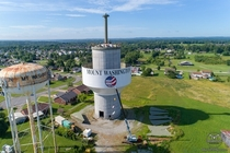 Raising our new water tower in Kentucky