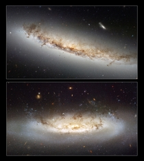 Ram pressure stripping galaxies NGC  and NGC
