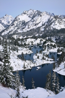 Rampart Lakes Winter Alpine Lakes in Washington State Photo by Jeremy Jonkman