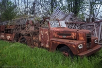Ran across this old abandoned s firetruck on a drive though western New York
