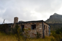 Ranch in the foothills of Big Bend National Park Texas