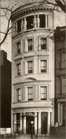 Randolph Guggenheimers white marble mansion at  Fifth Ave New York circa  Designed by Robert Maynicke Fifth floor loggia with caryatids