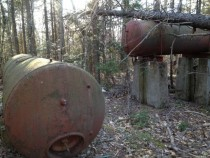 Random fuel tanks in the NH woods