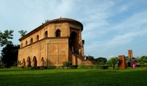 Rang Ghar in Assam India An arena where Ahom kings watched elephant fights