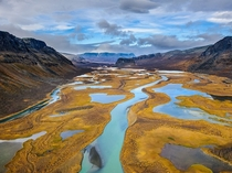 Rapa River Delta in Sarek National Park northern Sweden photo by Sven Zacek