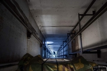 Rappelling down to explore an abandoned Yugoslavian underground bunker