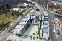 Rare birds-eye view of the German Federal Chancellery