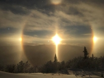 Rare phenomenon called Sundog in Sweden Photo by Pierre Bjrk