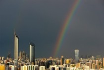 Rare rainbow in Abu Dhabi