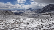 Rare snowfall on the slopes of Sairecabur Atacama northern Chile Elevation m