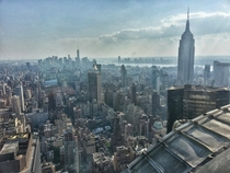 Rare view of Manhattan from the th floor of the Chrysler Building - no visitors allowed only office suite employees
