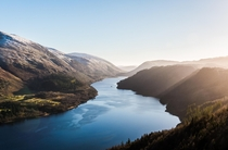 Raven Crag overlooking Lake Thirlmere English Lake District