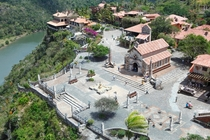 Re-creation of a sixteenth-century Mediterranean village in the Caribbean Altos de Chavn Dominican Republic