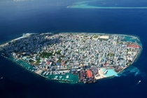 Real life Sim City Mal capital of Maldives  people per square kilometer