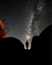 Real picture of the Milky Way from Joshua Tree