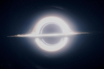 Realistic rendering of a supermassive black hole amp accretion disk for Christopher Nolans Interstellar