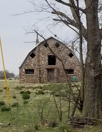 Really cool rock barn in rural Oklahoma