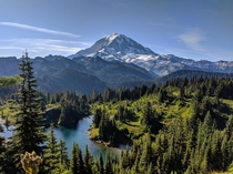 Really like how this picture turned out Hope you guys feel the same way Wonderful morning at Mt Rainier National Park WA