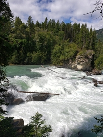 Rearguard Falls in BC This is the furthest point the salmon come to spawn from the Fraser River