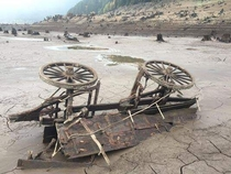 Receding Lake Water Exposes Late th Century Wagon in Detroit Oregon
