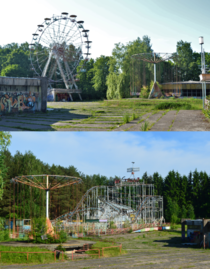 Recently demolished soviet amusement park