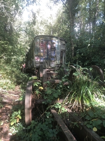 Recently explored some abandoned trains in Kent UK Not a massive train graveyard but some nice bits there If anyone has any idea of the era of these trains Id love to know Someone mentioned s to me but not  Link in comments for more