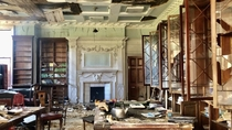 Recently explored the abandoned Westbury House in Hampshire UK Once a private estate then a prep school for boys Finally a care home until it was closed down suddenly in  after an inspection This is the former library Link in bio for more