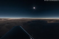 Recently featured as NASAs Astronomy Picture of the Day this amazing capture by Ben Cooper of LaunchPhotographycom shows the total solar eclipse that occurred on November   from  ft over the Atlantic