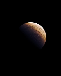 Reconstructed and edited a picture of Jupiter taken from the JUNO mission of NASA