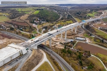 Reconstruction of the A Autobahn near Wrzburg Germany