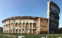 Reconstruction of the Colosseum as the Frangipani family castle th Century Medieval Rome