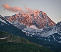 Record setting early snowfall made for a magical sunset on Capitol Peak in Colorado
