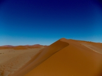 Red dunes in Namib Desert Namibia