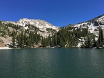 Red Pine Lake in Little Cottonwood Canyon UT