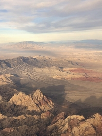 Red rock Las Vegas NV - I like the way the mountains cast shadows across the desert floor OC