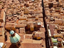 Red roofs everywhere Bologna Italy