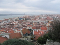 Red Roofs in Lisbon Portugal