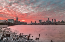Red Sky at night in London by Jerry Fryer