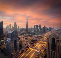 Red Sky in Dubai