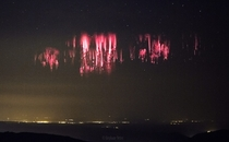 Red Sprites over the English Channel