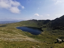 Red Tarn and Striding Edge Helvellyn Lake District UK