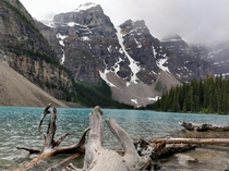 Reddit Lake on a Cloudy Day Moraine LakeAlbertaCanada