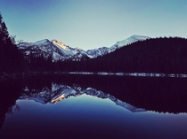 Reflection at Sunset  Bear Lake RMNP CO