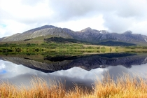 Reflection in Lough Inagh Connemara Ireland