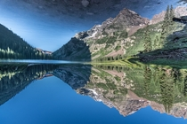 Reflection magic at Crater Lake near Aspen Colorado